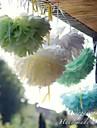 10 tums papper blomma festdekorationer - set om 4 (fler färger)