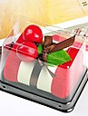 fibre de forme anniversaire de gateau de cadeau serviette de creation (couleur aleatoire)