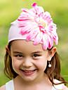 משי עם הכובע / כיסוי הראש של ילדי ילדה פרח יהלומים מלאכותיים (צבעים יותר)