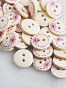 bowknot motif album scraft coudre des boutons en bois de bricolage (10 pieces)