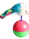 söt boll mus med fjäder stil tumlaren pet katt nyhet leksaker