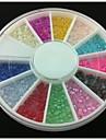 2mm halvcirkel färgstarka pärla nail art dekorationer