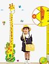 väggdekorationer Väggdekaler, giraff höjd linjal heminredning väggmålning pvc väggdekorationer