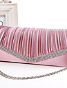 Women Silk Wedding Evening Bag White Pink Blue Gold Red Black Fuchsia