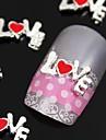 10st 3d legering kärleksbrev tecken nail art dekoration