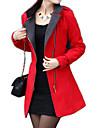yinbo roșu guler pelerina cu maneci lungi de moda fermoar strat