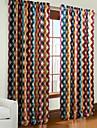 philips unga - två paneler moderna multi färger överlappande gitter gardiner draperier