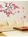 jiubai® blomma träd vägg klistermärke väggdekal
