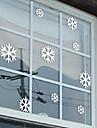"""joyeux noel belle fenetre de flocon de neige autocollant (14.16 """"w × 9"""" l)"""
