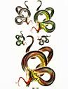 serpent impermeable tatouage temporaire echantillon autocollant tatouages moule pour l\'art corporel (18.5cm * 8.5cm)