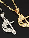 nouveau jesus croix charme collier pendentif 18k platine plaque or cristal cadeau de bijoux en strass pour les femmes