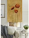 oljemålning stil levande blommor kluster rulle skugga