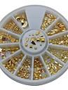 12styles blanda guld metallreglar 6cm hjul nail art dekoration