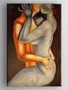 oljemålning moderna abstrakta älskare handmålade canvas med sträckt inramade
