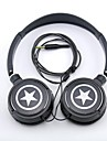 spc06 stjärnor logo stereohörlurar 3,5 mm uttag över örat för mp3 / telefoner / st