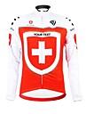 KOOPLUS® Maillot de Cyclisme Femme Homme Unisexe Manches longues Velo Respirable Zip etanche Vestimentaire Bandes ReflechissantesMaillot