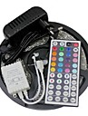 Waterproof 5M 300X3528 SMD RGB LED Strip Light and 44Key Remote Controller and 3A EU Power Supply (AC110-240V)