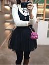 vogue söta hängslen grenadin klänning svart