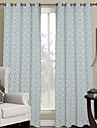 Designer Two Panels Geometric Bedroom Polyester Panel Curtains Drapes