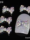 10st färgrik rhinestone bowtie diy legerings tillbehör nail art dekoration
