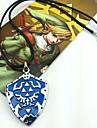 Smycken Inspirerad av The Legend of Zelda Cosplay Animé/ Videospel Cosplay Accessoarer Halsband Blå Legering Man