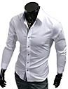 för män kavajslag hals enfärgad slida skjortan
