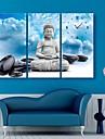 e-Home® buddha och stenar klockan i canvas 3st