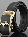 Men's Fashion Horse Automatic Buckle Business Leather Belt