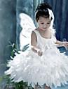 Costumes de Cosplay Costumes de pere noel Fete / Celebration Deguisement d\'Halloween Blanc Couleur Pleine Robe Ailes Noel Enfant Polyester