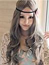 Perruques de lolita Doux Princesse Long / Boucle Gris Perruques de Lolita 80 CM Perruques de Cosplay Couleur Pleine Perruque Pour Femme