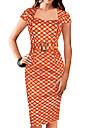 european temperament elegant check subțire rochie Monta femei