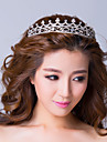 Graceful Silver Plated Alloy With Rhinestone  Princess Tiara