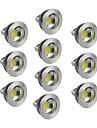 5W GU5.3(MR16) LED Spot Lampen 1 COB 400-450 lm Warmes Weiss / Kuehles Weiss / Natuerliches Weiss Dimmbar DC 12 V 10 Stueck