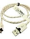 Tissu tresse 1m adaptateur micro-USB de synchronisation cable du chargeur pour Samsung Galaxy S3 / S4 sony lg (blanc)
