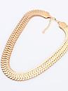 temperament de mode les colliers declaration elegance metalliques des femmes beishiqi