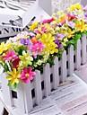 Une succursale Polyester / Plastique Marguerites Fleur de Table Fleurs artificielles 30 x 14 x 8 (11.8\'\' x 6\'\' x 3.1\'\')