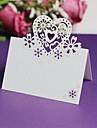 Laser coeur 12pcs decoupe nom carte d\'endroit de mariage fete d\'anniversaire Decorations de Noel centres de table (plus de couleurs)