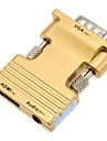 0.1m 0.328ft femelle HDMI vers VGA male + cable de connexion audio HD femelle - or