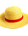 Hat/Cap One Piece Monkey D. Luffy Anime cosplay pribor Žuta Straw Rope
