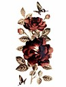 #(1) Tatouages Autocollants Series de fleur Motif Paillettes ImpermeableHomme Femelle Adulte Adolescent Tatouage TemporaireTatouages