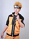 Inspire par Naruto Naruto Uzumaki Manga Costumes de Cosplay Costumes Cosplay Mosaique Orange Manche Longues Manteau Pantalons Pour