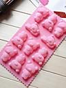 winnie le gateau de forme ourson moules de chocolat de gelee de glace de moule, silicone 21,7 × 11,2 × 1,8 cm (8,6 × 4,4 × 0,7 pouces)