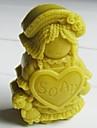 ragdoll tvål formad fondant tårta choklad silikonform kaka dekoration verktyg, l8.3cm * w6cm * h2.7cm