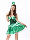 Costume Cosplay / Costume petrecere Clovn/Burlești Festival/Sărbătoare Costume de Halloween Verde Peteci Rochie / Tanga / Pălărie