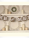 """Wedding Décor Rustic Kraft Paper""""MR AND MRS"""" Party Banners"""