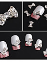10pcs paillettes strass Bow Tie accessoires en alliage nail art decoration