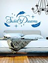 väggdekorationer Väggdekaler, moderna söta dröm quote pvc vägg klistermärken.