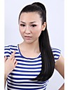 Long Curly Natural Black Hair Ponytail Vivid and Charming