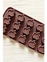 15 trous moule chocolat de gelee de glace gateau de forme de pomme de moule