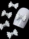 10pcs perle de mode noeud papillon 3d strass bricolage accessoires en alliage nail art decoration